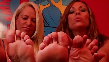Roomate foot fetish degradation  we know you like our feet